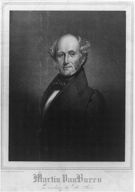 Martin Van Buren president of the U. States / from an original painting by H. Inman ; lith. & published by P. Haas, Washington City.