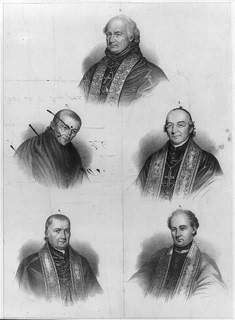 Portraits of 5 archbishops