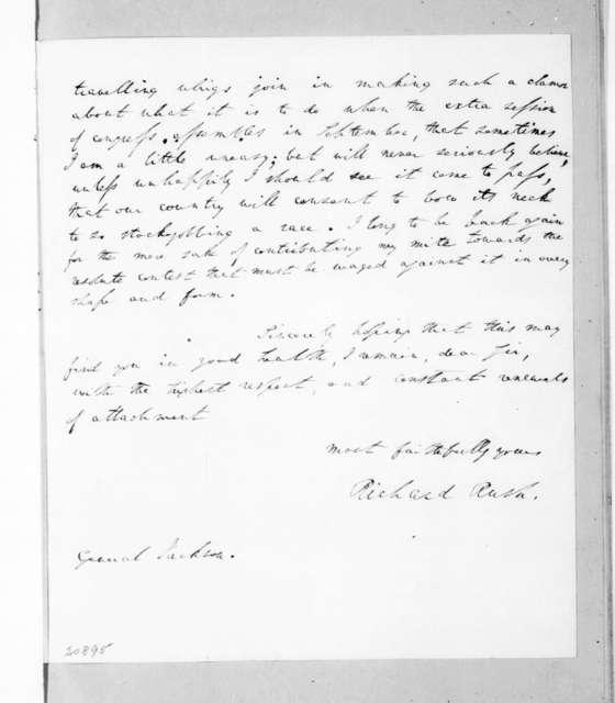 Richard Rush to Andrew Jackson, August 12, 1837