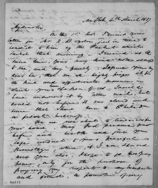 Samuel Swartwout to Andrew Jackson, March 4, 1837