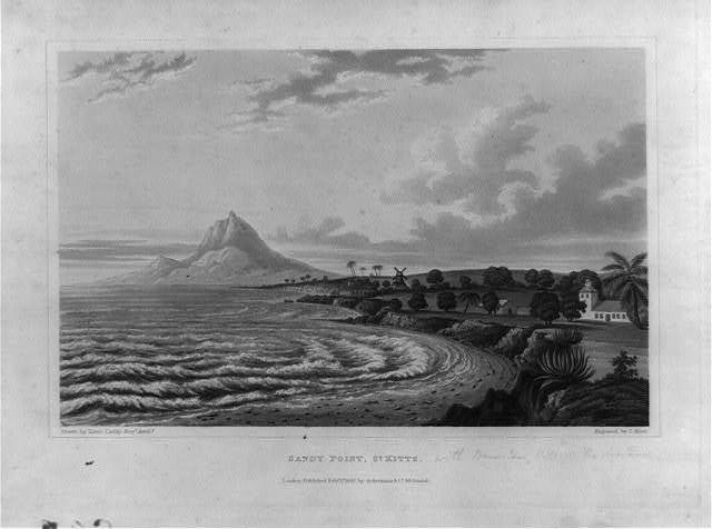 Sandy Point, St. Kitts / drawn by Lieut. Caddy, Royl. Artilly. ; engraved by C. Hunt.
