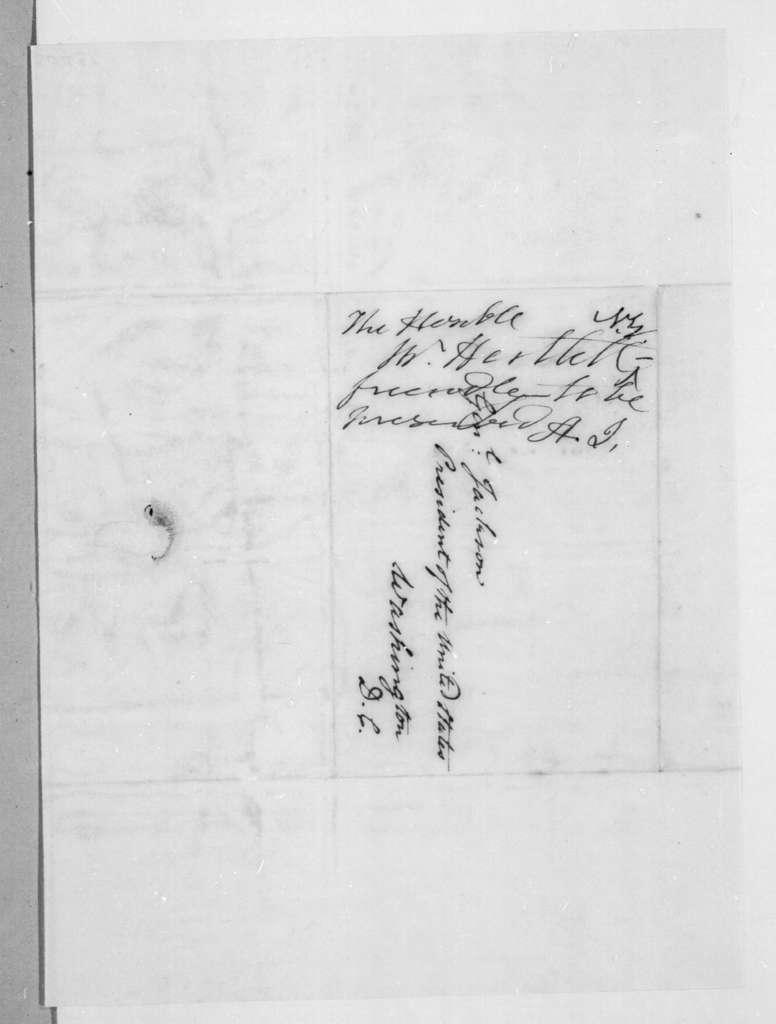 Thomas Harttell to Andrew Jackson, January 16, 1837