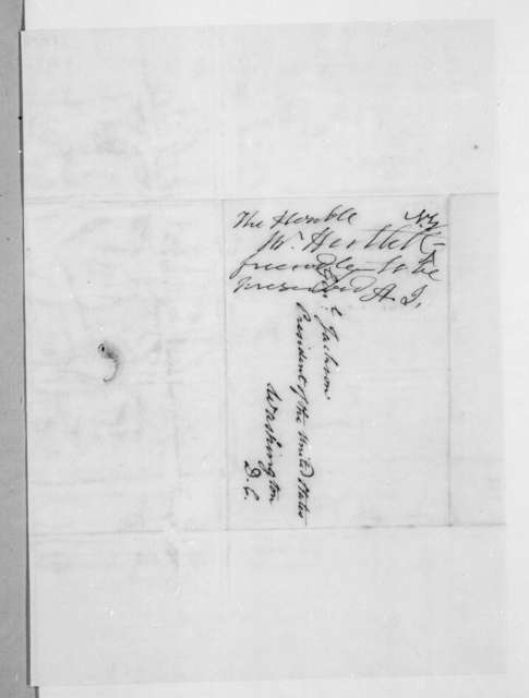 Thomas Harttell to Andrew Jackson, January 16, 1837