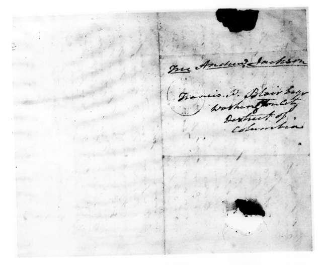 Andrew Jackson to Francis Preston Blair, December 8, 1838