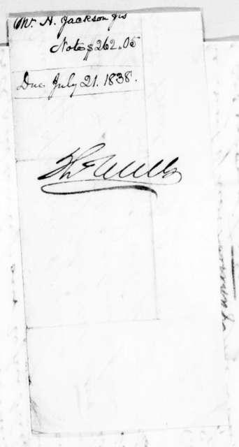 Andrew Jackson to Thomas Wells, July 20, 1838