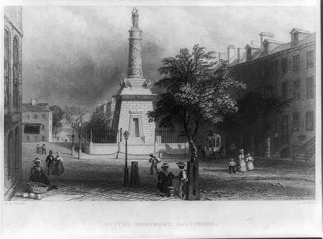 Battle monument, Baltimore / W.H. Bartlett ; H. Griffiths.