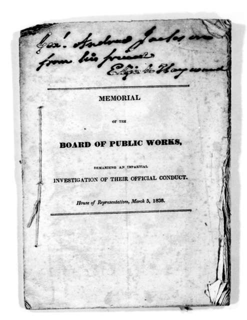 Board of Public Works, March 5, 1838