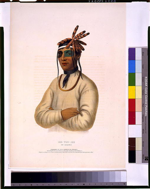 Caa-Tou-See, an Ojibway / drawn, printed & coloured at I.T. Bowen's Lithographic Establishment.