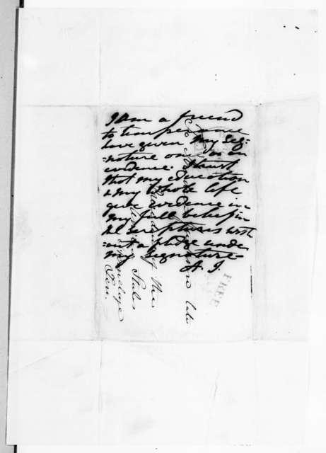 Edward C. Delavan to Andrew Jackson, July 30, 1838