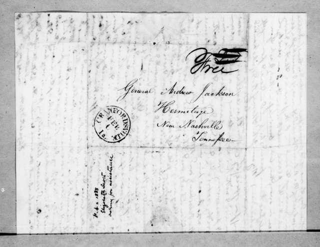 Elizabeth D. Scott to Andrew Jackson, February 3, 1838
