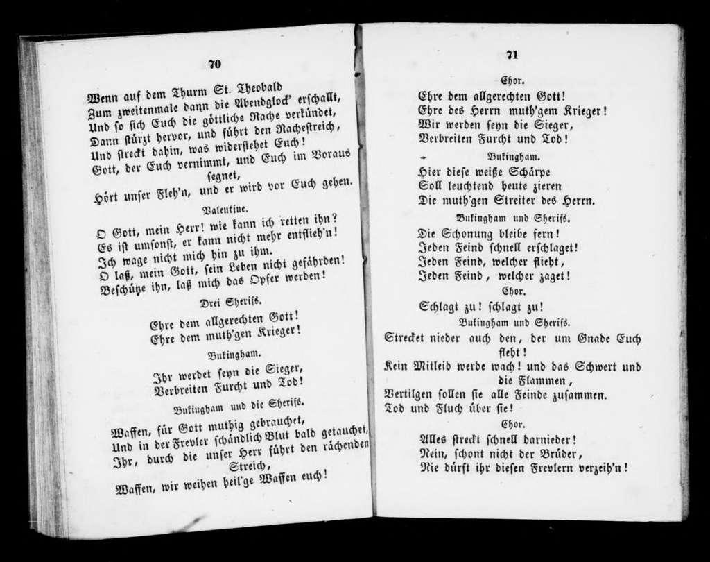 Huguenots. Libretto. German