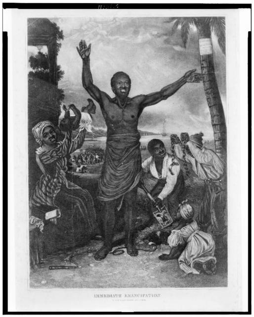 Immediate emancipation in the West Indies, Aug. 1st, 1838 / painted by Alexr. Rippingille ; engraved by S.H. Gimber