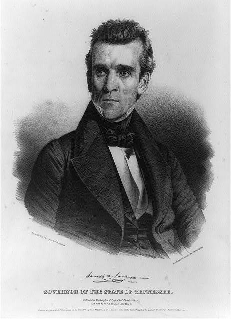 James K. Polk. Governor of the state of Tennessee / from life & on stone by Chas. Fenderich ; printed by P.S. Duval, Lith., Philadelphia.