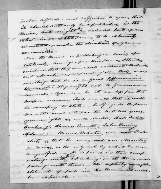 James Knox Polk to Andrew Jackson Donelson, February 4, 1838