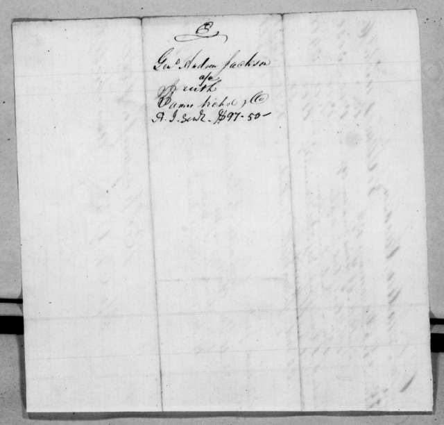James Nichol & Co to Andrew Jackson, April 9, 1838