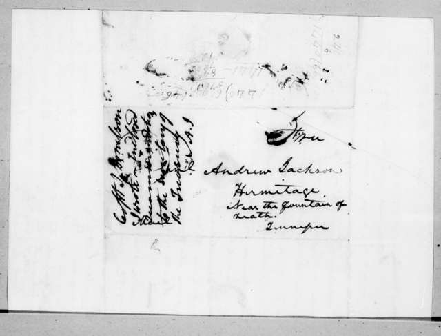 John Donelson to Andrew Jackson, March 24, 1838