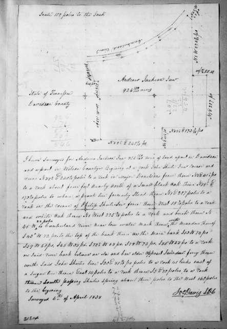 Jonathan Davis to A. Jackson, Jr., April 6, 1838
