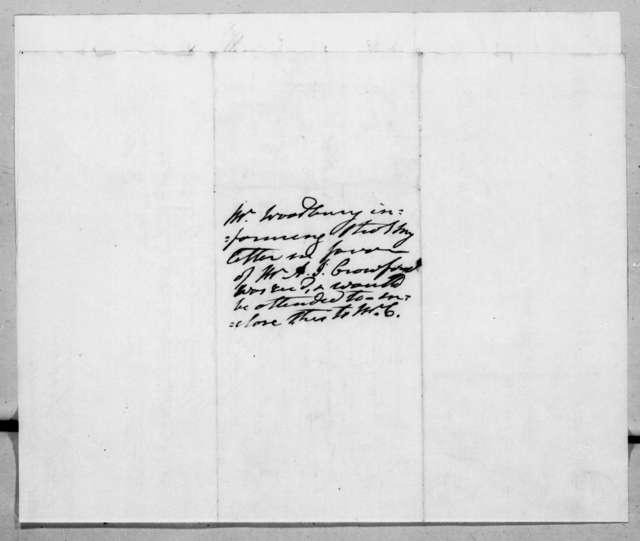 Levi Woodbury to Andrew Jackson, April 9, 1838
