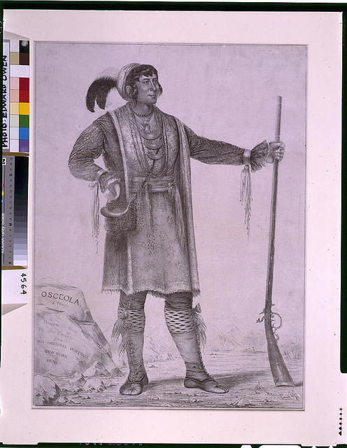 Osceola of Florida / drawn on stone by Geo. Catlin, from his original portrait.