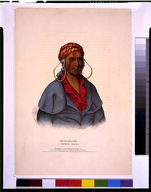 Payta-Kootha, a Shawanoe warrior / drawn, printed & coloured at I.T. Bowen's Lithographic Establishment No. 94 Walnut St.