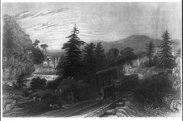 [Railroad Scene, Little Falls (Valley of the Mohawk)]