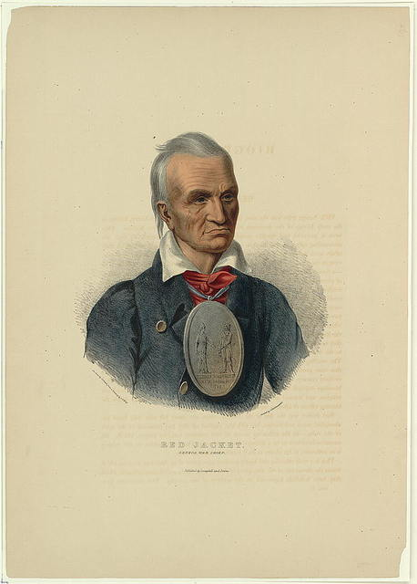Red Jacket. Seneca war chief / on stone by Corbould from a painting by C.B. King ; printed by C. Hullmandel.