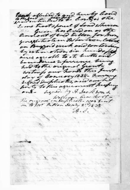 William Crockett to Andrew Jackson, January 2, 1838