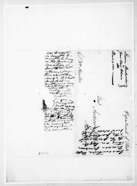 William Houston to Andrew Jackson