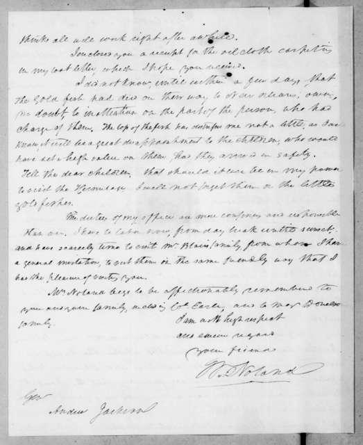William Noland to Andrew Jackson, May 14, 1838