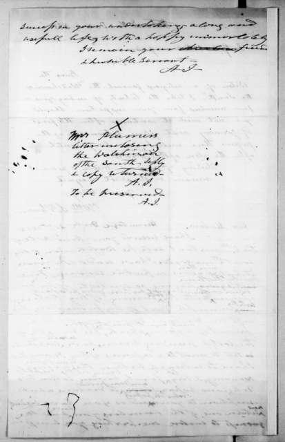 William Swan Plumer to Andrew Jackson, December 6, 1838