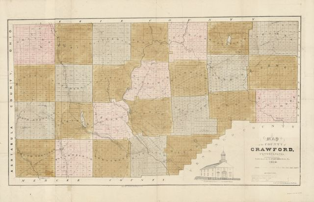 A map of the County of Crawford, Pennsylvania.