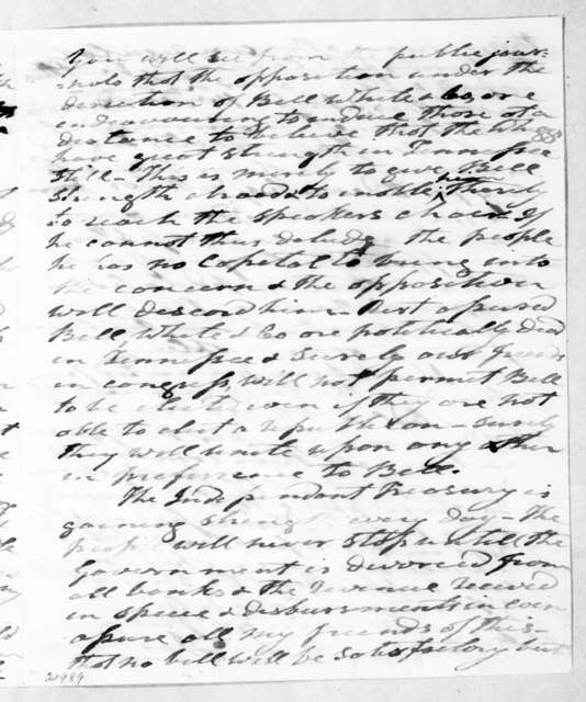 Andrew Jackson to Francis Preston Blair, September 23, 1839