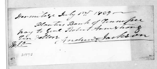 Andrew Jackson to Robert Armstrong, July 1, 1839