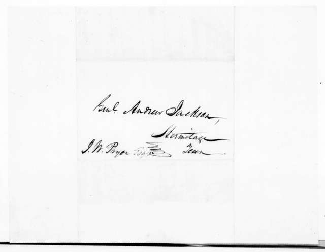 Clement Comer Clay to Andrew Jackson, July 6, 1839