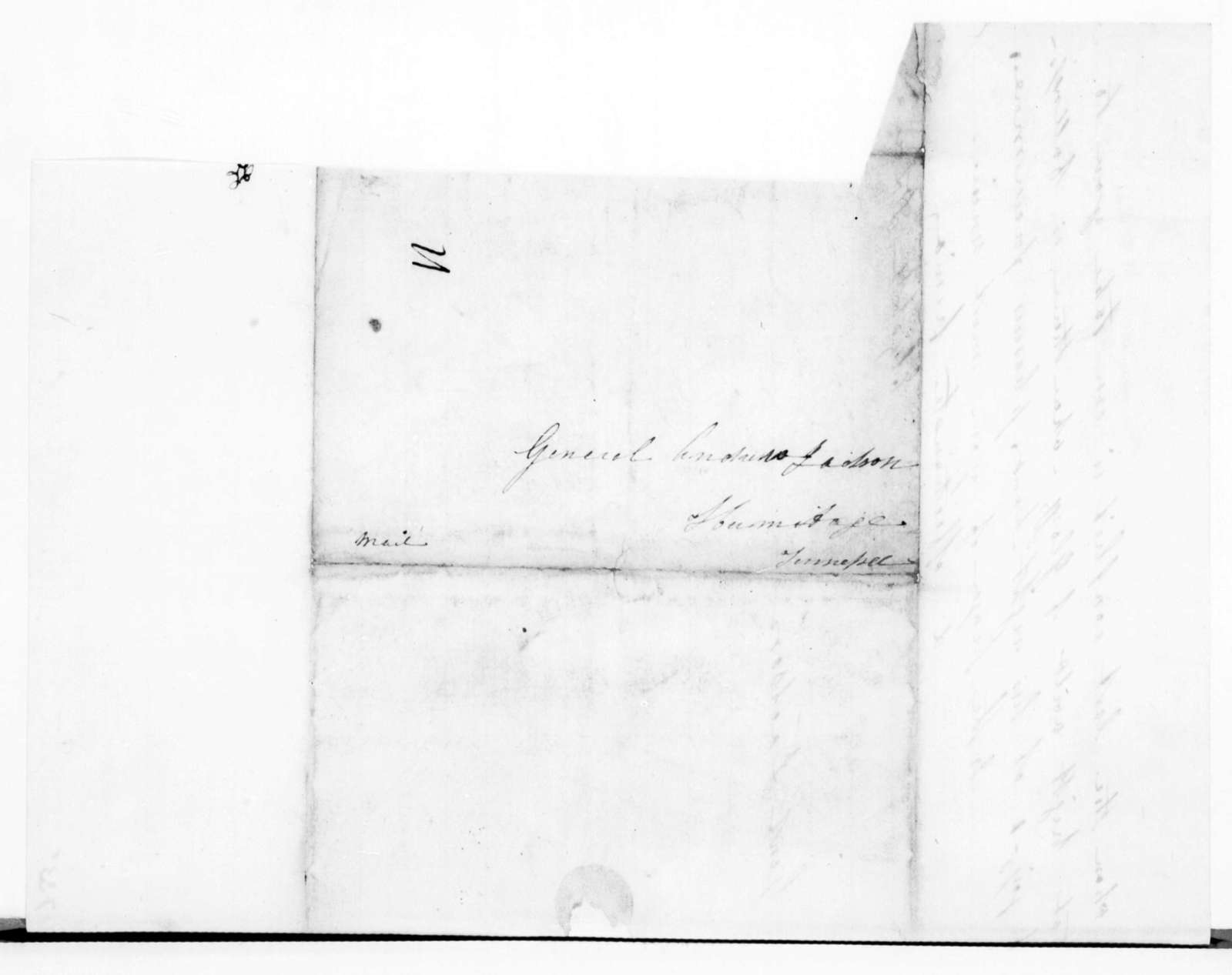 Elizabeth Dixon Love to Andrew Jackson, March 5, 1839