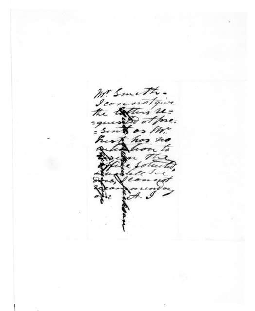 Joel M. Smith to Andrew Jackson, June 26, 1839