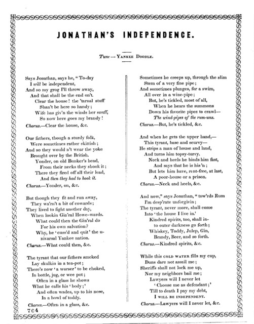 Jonathan's independence. Tune--Yankee Doodle