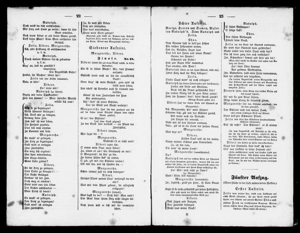 Lac des fées. Libretto. German