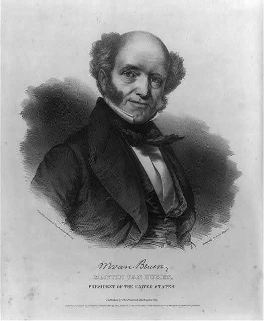Martin Van Buren, President of the United States / from life & on stone by Chas. Fenderich Washn. City ; printed by P.S. Duval, Philada.