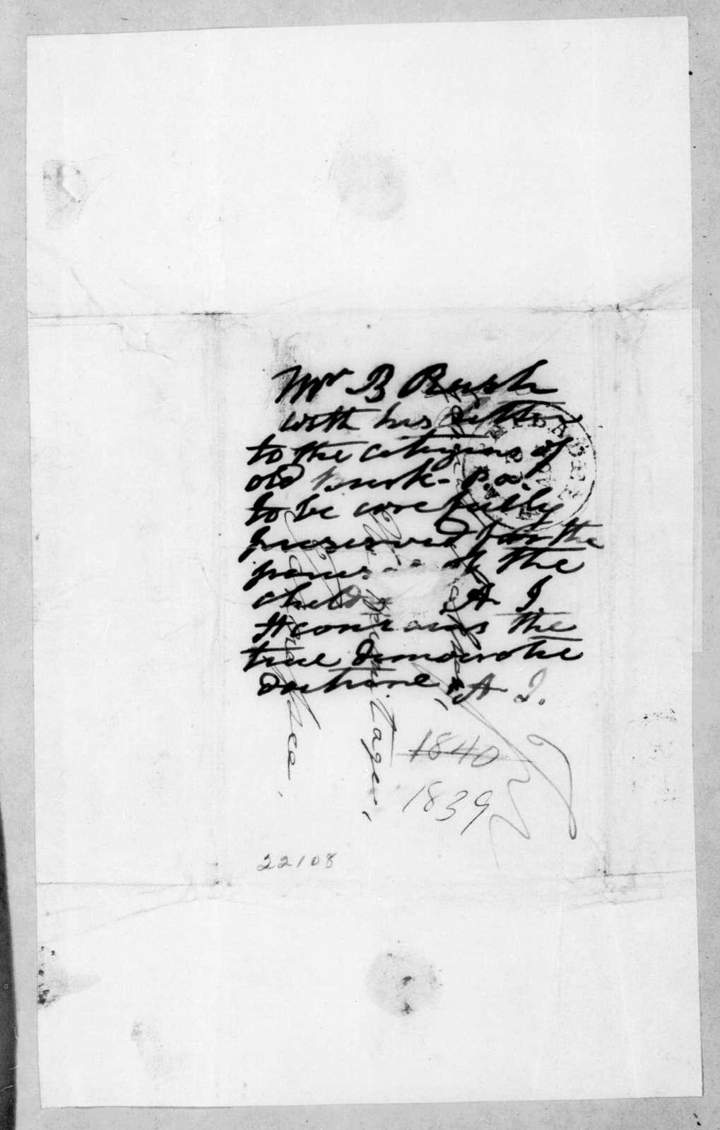 Richard Rush to Andrew Jackson