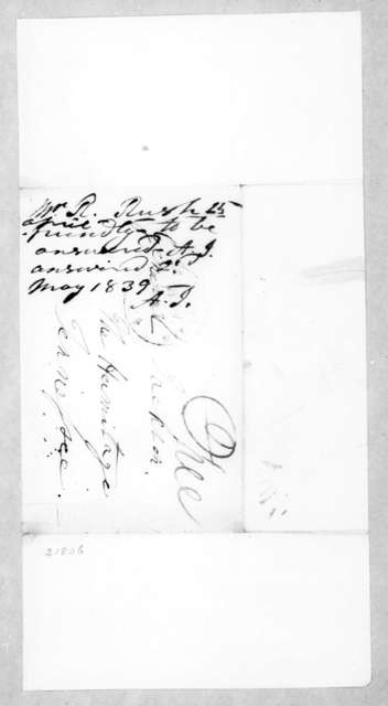 Richard Rush to Andrew Jackson, April 25, 1839