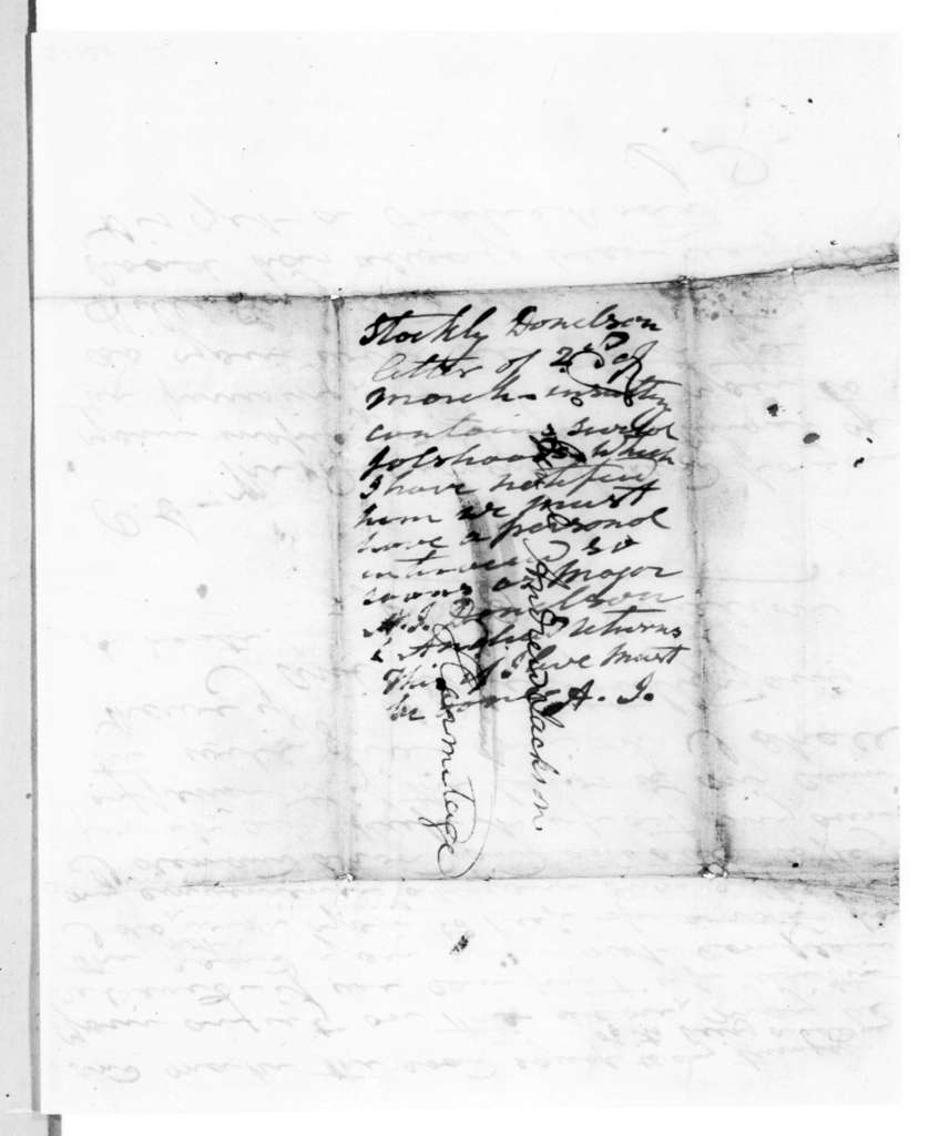 Stockley Donelson to Andrew Jackson, March 2, 1839