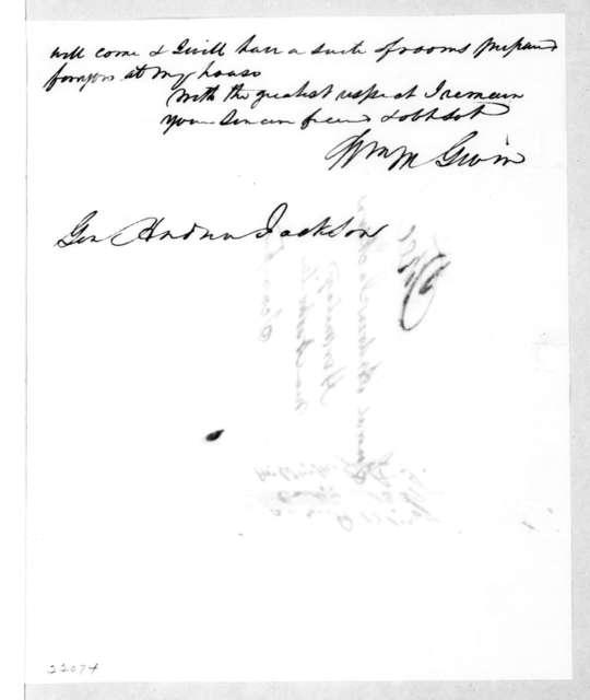 William McKendree Gwin to Andrew Jackson, November 30, 1839