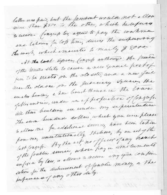 William Noland to Andrew Jackson, April 22, 1839