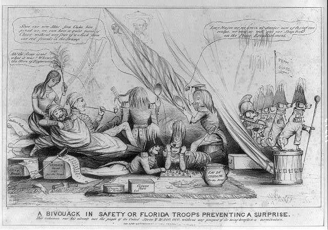A bivouack in safety or Florida troops preventing a surprise