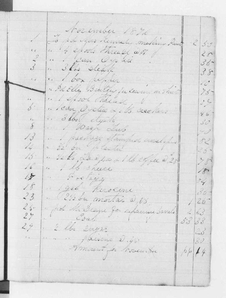 Account Books (by Douglass), 1840-1881