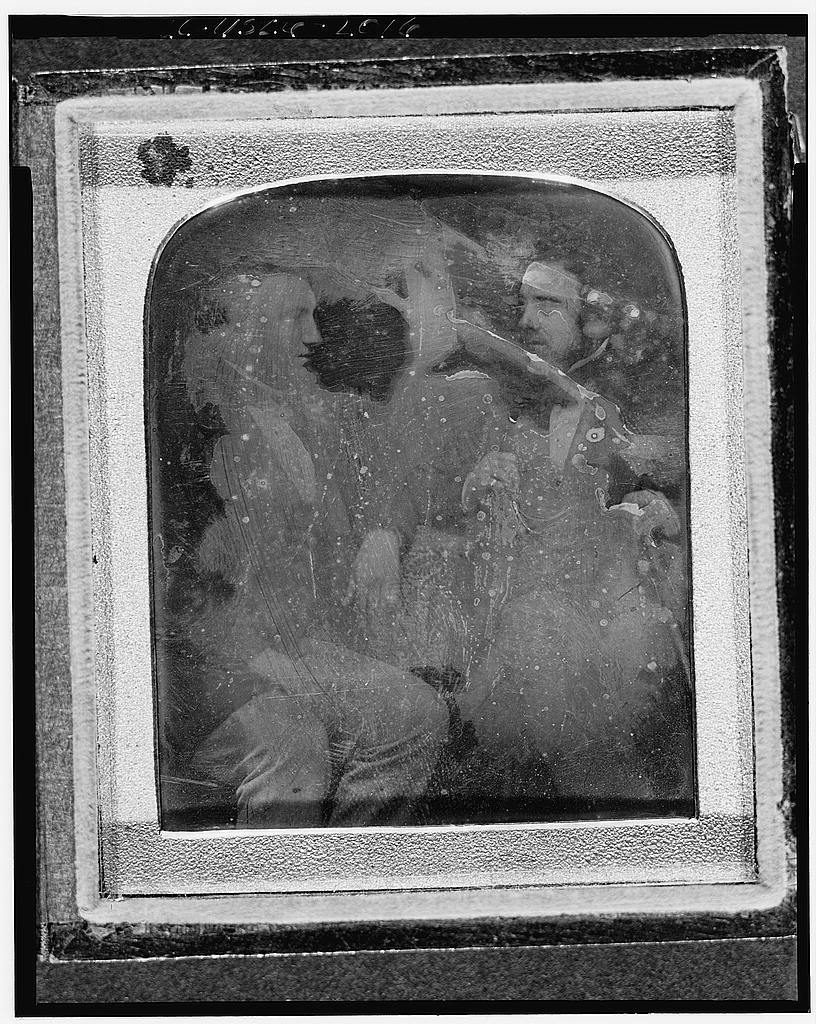 [Alexander Melville Bell and David Charles Bell, three-quarter length portrait, seated]