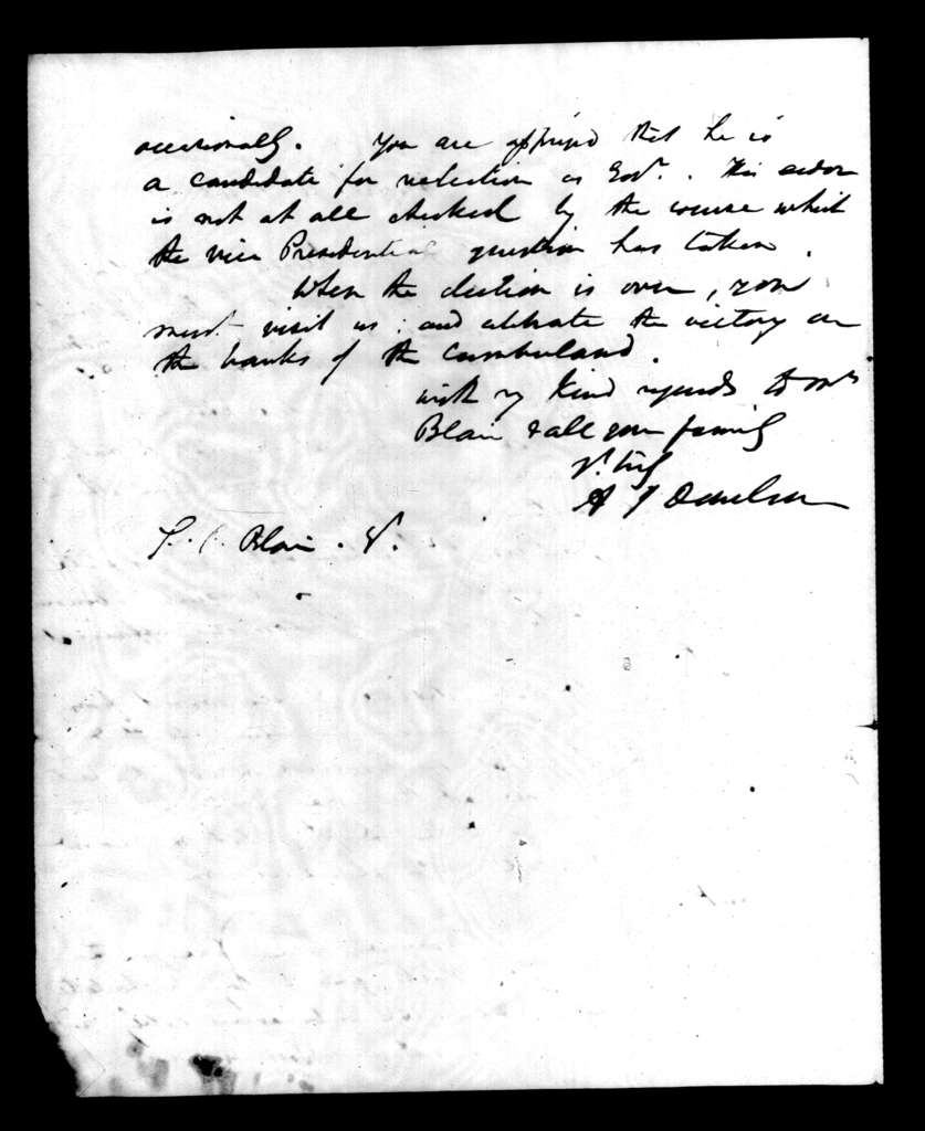 Andrew Jackson Donelson to Francis Preston Blair, August 4, 1840