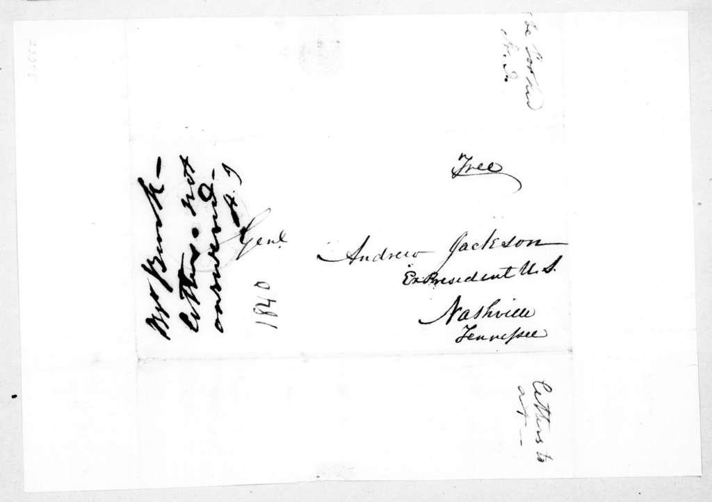 Andrew Jackson to Francis Preston Blair, May 22, 1840