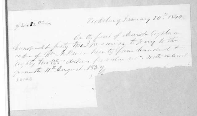 Andrew Jackson to William McKendree Gwin, January 20, 1840